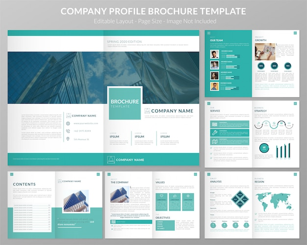 Firmenprofil-dossier-vorlage