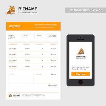 Firmenrechnung mit logo und kreativem design
