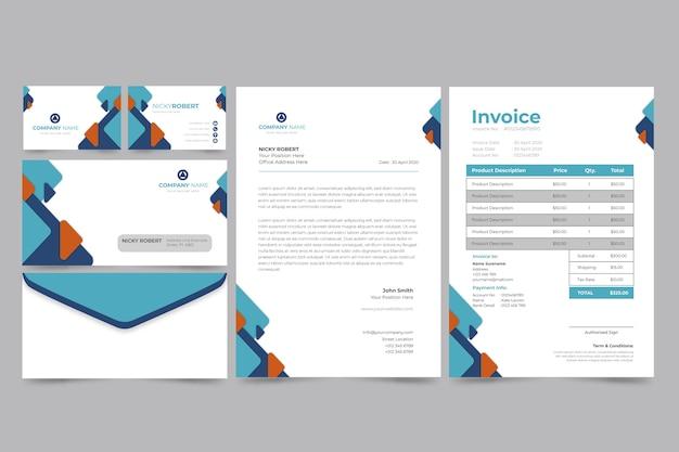 Firmenrechnung und visitenkarte