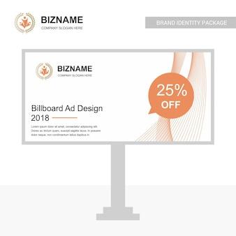 Firmenschein-brettdesign mit kreativem designvektor