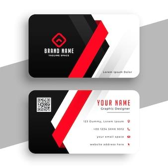 Firmenvisitenkarte im roten thema