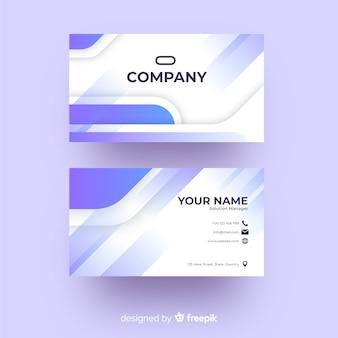 Firmenvisitenkarte mit fotodesign