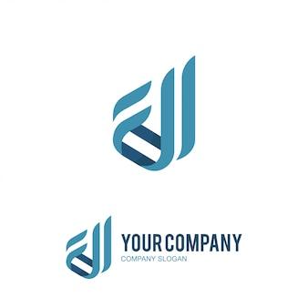 Firmenzeichen d und c logo-design