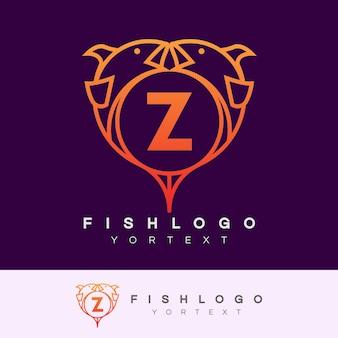 Fisch anfangsbuchstaben z logo design