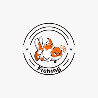 Fisch-maskottchen-logo-design-vektor-illustration