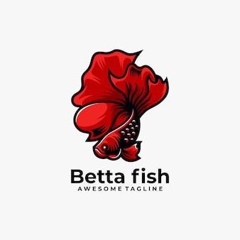 Fisch maskottchen logo design vektor