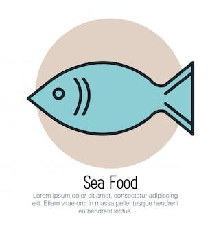 Fisch meeresfrüchte isoliert symbol