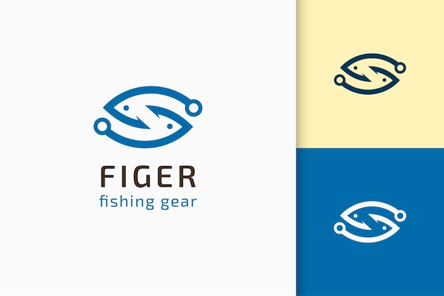 Fisch- oder köder-bildlogo in einfacher und moderner form