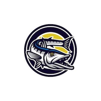 Fisch vektor maskottchen symbol abbildung