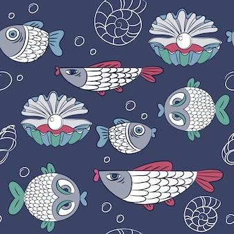 Fische muster design