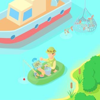 Fischerei-konzept