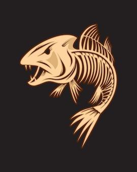 Fischknochen-maskottchen
