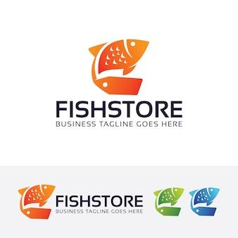 Fischladen und label-logo-vorlage