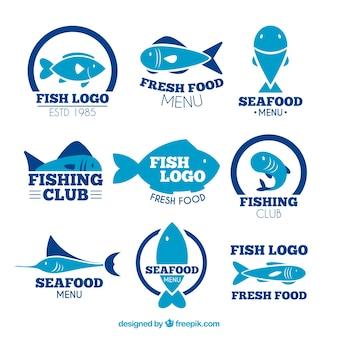 Fischlogos-sammlung für das firmenbranding