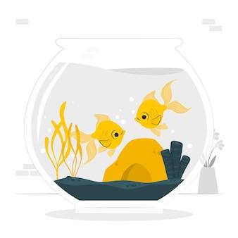 Fischschalenkonzeptillustration