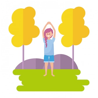 Fit frau praktizieren yoga
