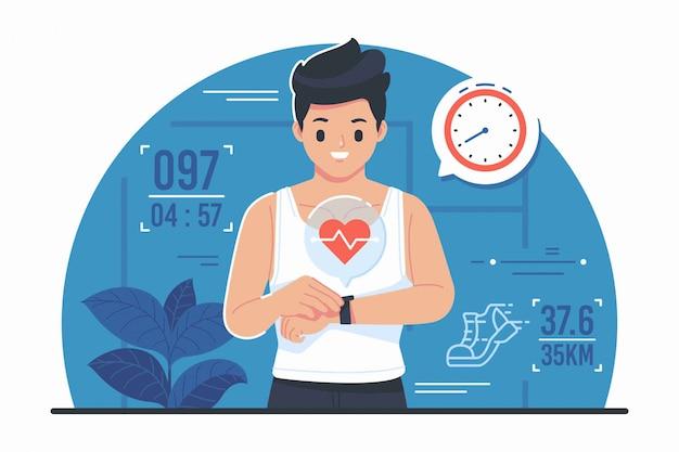 Fitnes tracker vektor-illustration
