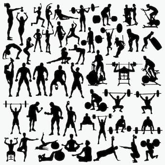 Fitness 1 silhouetten