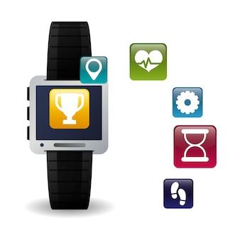 Fitness-app-technologie-symbole