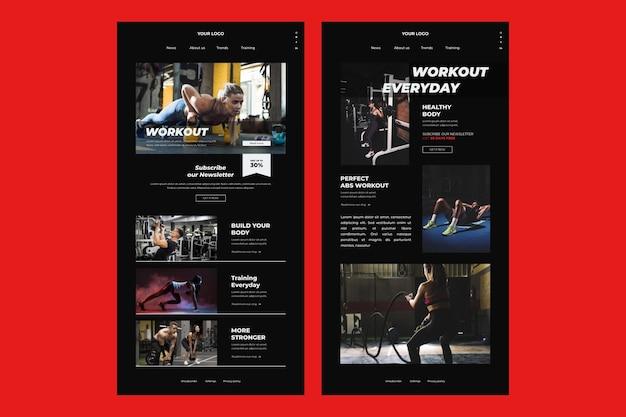Fitness e-mail-vorlage