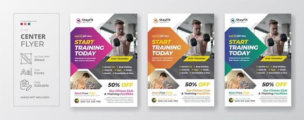 Fitness-fitness-flyer-vorlage