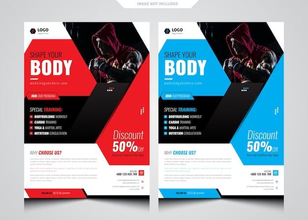 Fitness-fitnessstudio-flyer-vorlage