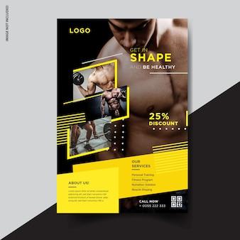 Fitness flyer template-design