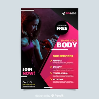 Fitness Flyer Vorlage