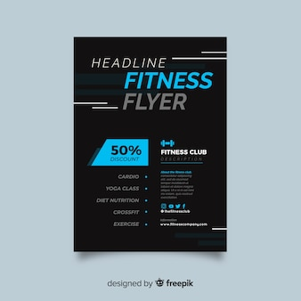 Fitness-flyer-vorlage