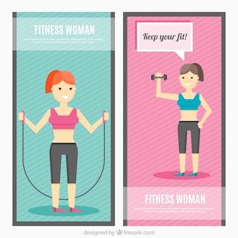 Fitness frauen banner