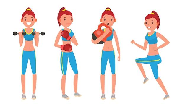 Fitness girl gesetzt