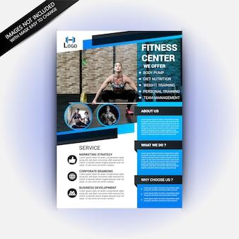 Fitness gym club flyer vorlage