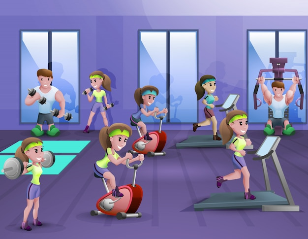 Fitness hall poster