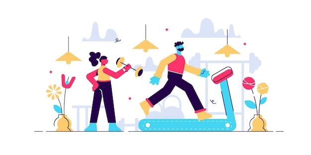 Fitness-illustration des täglichen lebens.