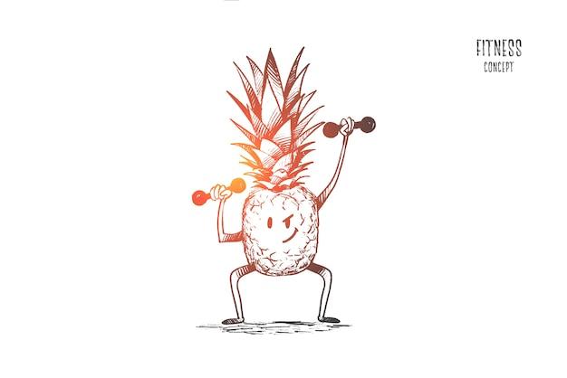 Fitness-konzept illustration