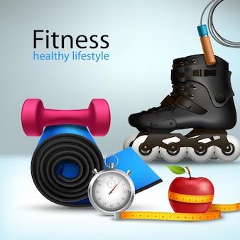 Fitness lebensstil hintergrund