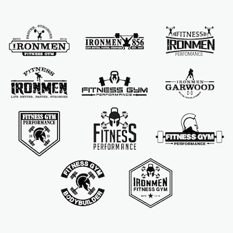 Fitness logo abzeichen 2