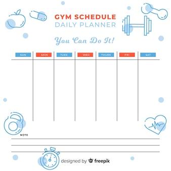 Fitness-oder fitness-zeitplan-vorlage