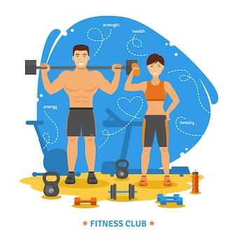 Fitness-paar-konzept