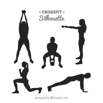 Fitness silhouetten sammlung
