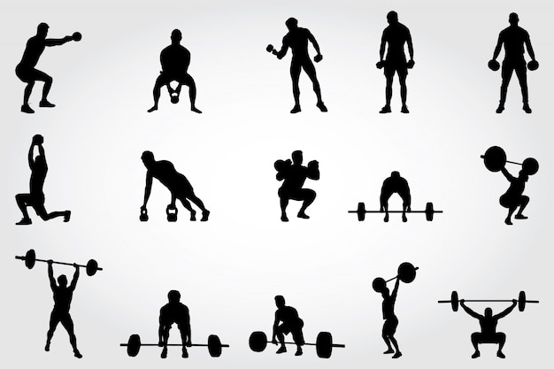 Fitness-silhouetten