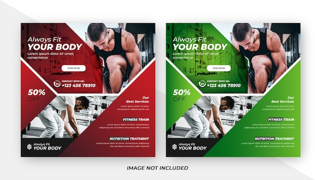 Fitness social media post design