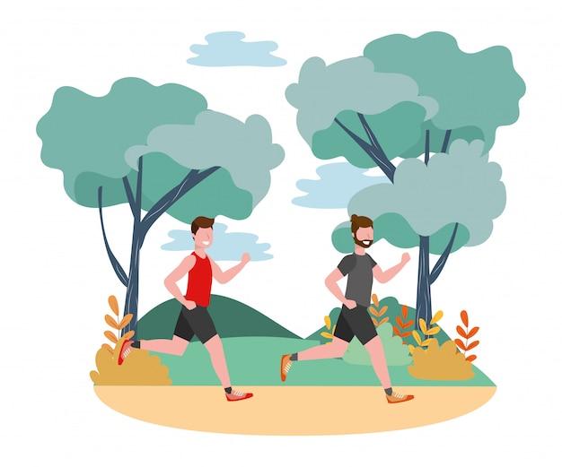 Fitness sport zug cartoon