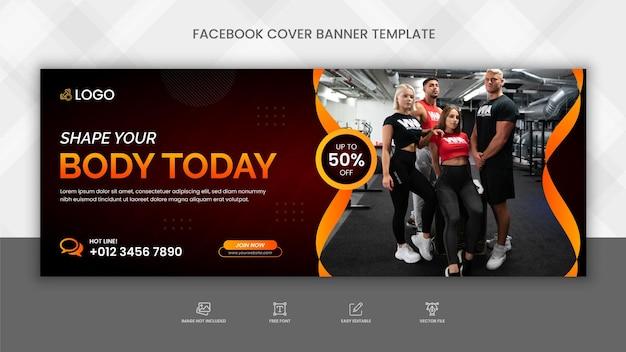 Fitness-studio-banner-vorlage