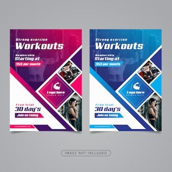 Fitness-studio flyer vorlage.