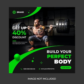 Fitness-studio-social-media-post-banner-design-vorlage