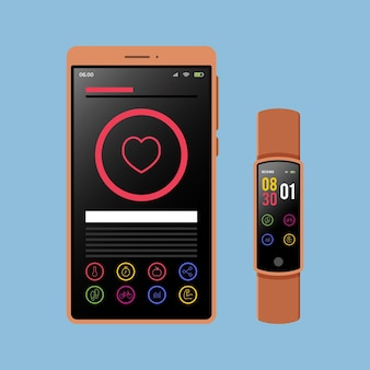 Fitness-tracker mit flachem design