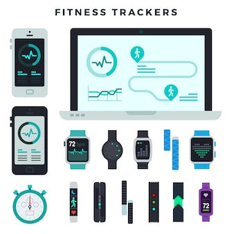 Fitness-tracker verschiedener typen
