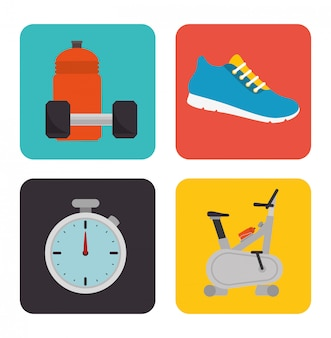 Fitness- und fitness-lifestyle-design