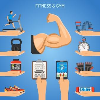 Fitness und gym